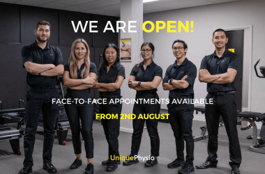We are open for face-to-face appointments on the 2nd of August