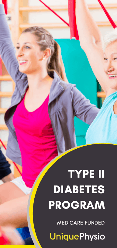 Diabetes management program brochure Unique Physio